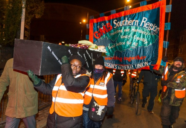 Wandsworth 'funeral' demo against cuts to Meals on Wheels