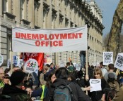 GMB / UKUNCUT Budget Demo Downing Street March 2012