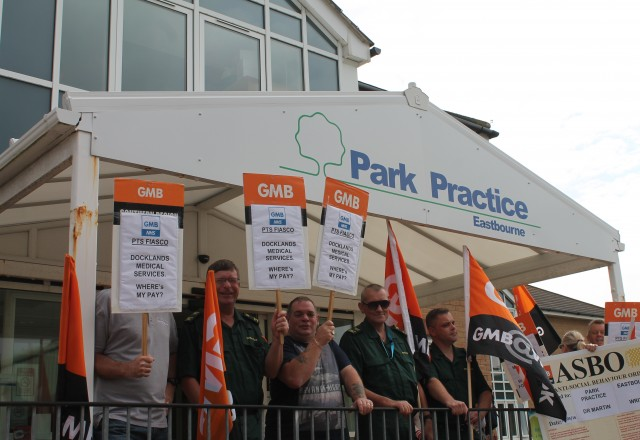 Sussex CCG Ambulance Staff Demonstrations