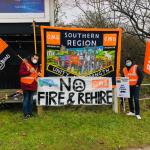 43rd Day of British Gas strike action to coincide with mass sackings of engineers who refused to submit to bully boy O'Shea