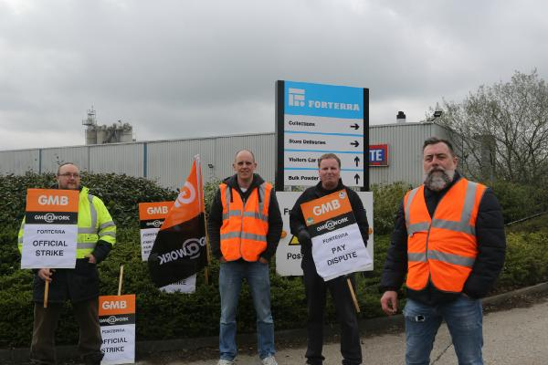 GMB members win pay increases after strike action at Berkshire Firm