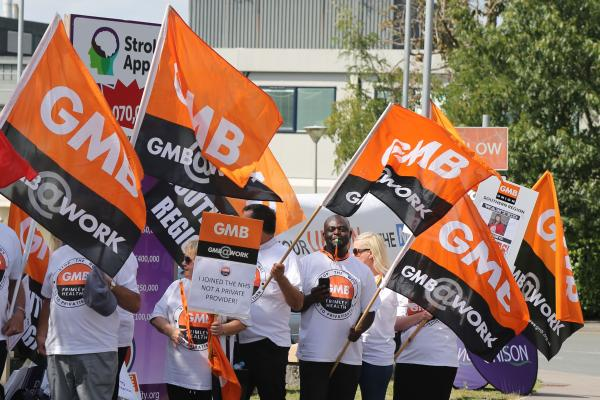 GMB members vote for strike action at Frimley Health NHS Trust