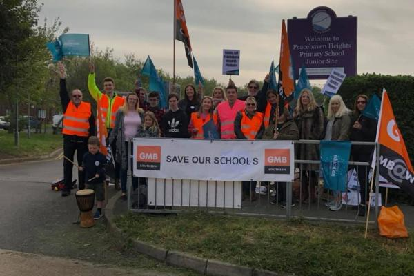 Support staff at Peacehaven school strike over threat of academisation