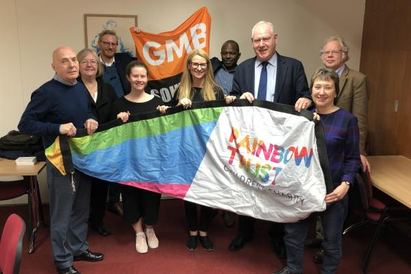 GMB Southern donate to Rainbow Trust