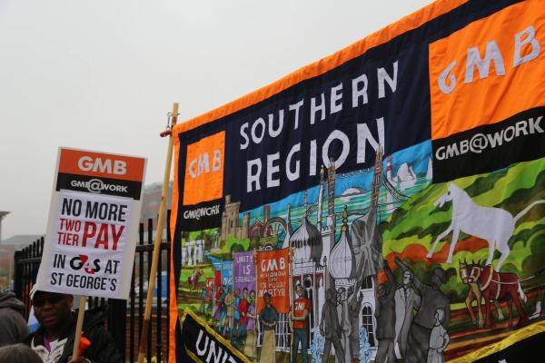 GMB members gear up for dispute with Mitie at St. George's Hospital