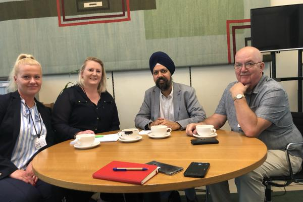 GMB meet Tan Dhesi MP to discuss Frimley Health Trust plans for outsourcing jobs