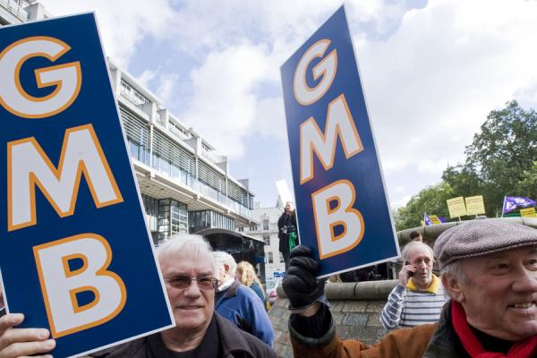 GMB members at Forterra's Newbury site strike full steam ahead